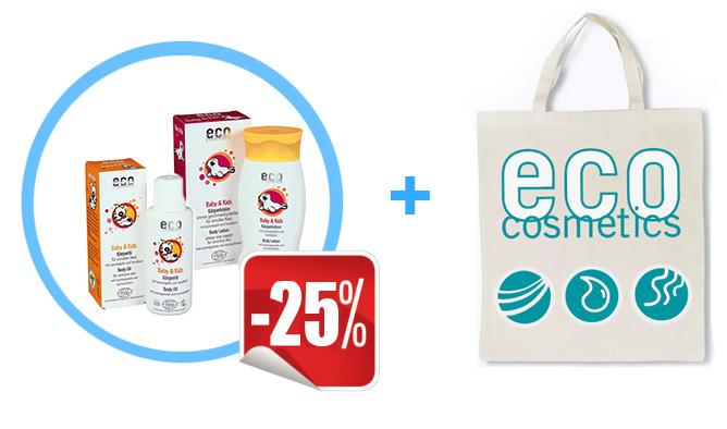 Акция! Набор для детей от Eco Cosmetics со скидкой 25% + эко-сумка в подарок!