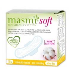 Органические ультратонкие прокладки Soft для нормальных выделений с крылышками, 10 шт., MASMI