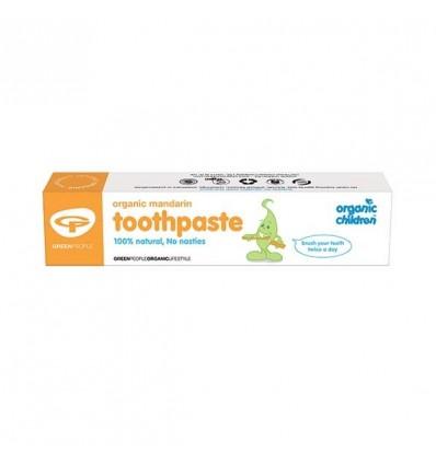 Детская зубная паста Мандарин от Green People