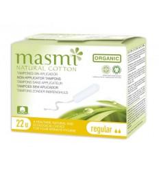 Органические тампоны Regular без аппликатора для незначительных и умеренных выделений, 22 шт., MASMI