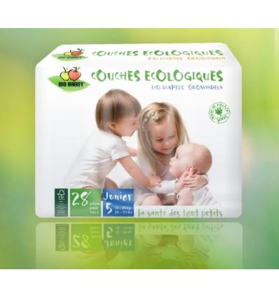 Одноразовые био-подгузники, Bio Babby, JUNIOR