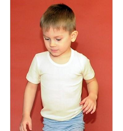 Футболка детская с коротким рукавом из шелка и шерсти, HOCOSA