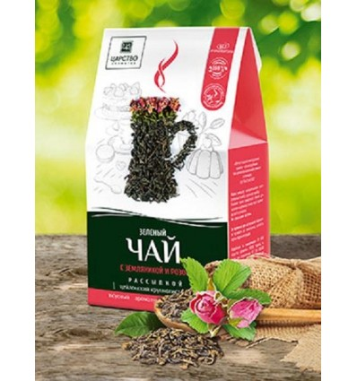 Зеленый чай с земляникой и розой, Царство Ароматов