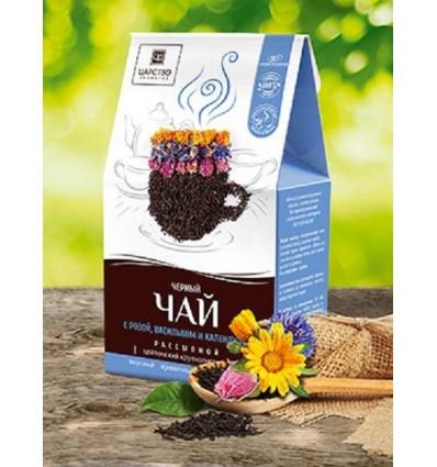 Черный чай с розой, васильком и календулой, Царство Ароматов