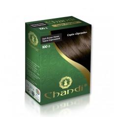 """Краска для волос Chandi. Серия """"Органик"""". Темно-коричневый"""