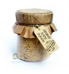 100% натуральный сахарный скраб «Овсянка с алоэ», Амбра