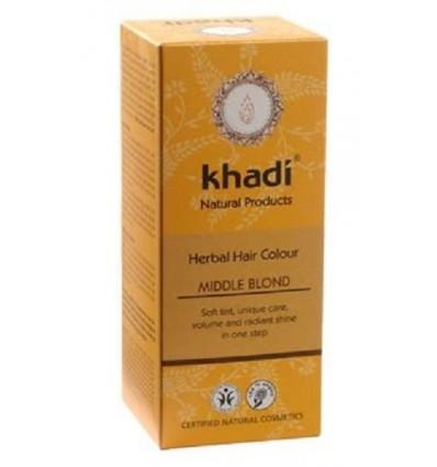 Органическая краска для волос «Middle Blond», Khadi