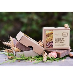 """Натуральное мыло """"Пшеничные отруби, какао и молоко"""", Яка"""