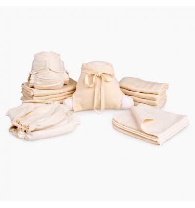Летний набор (трикотажные подгузники + хлопковые трусики), Disana