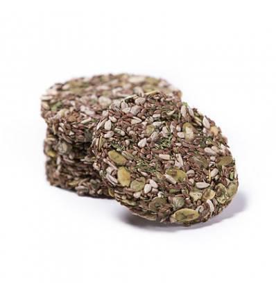 Хлебцы льняные «Цельнозерновые» без соли, Живая кухня