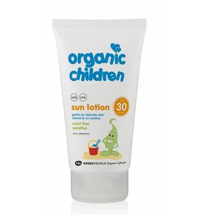 Солнцезащитный лосьон для детей SPF25 Без запаха от Green People