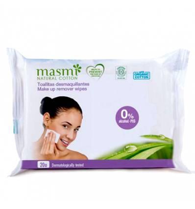 Органические влажные салфетки для удаления макияжа, 20шт, Masmi