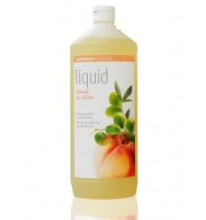 SODASAN органическое жидкое мыло Peach-Olive, увлажняющее 1 л