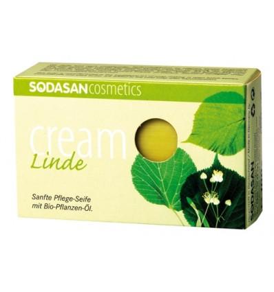 SODASAN органическое мыло-крем Lime tree blossoms 100 г