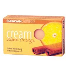 SODASAN органическое мыло-крем Cinnamon-Orange 100 г