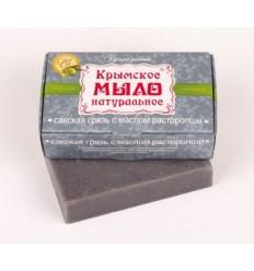 """Украинское мыло """"Сакская грязь с маслом расторопши"""", Мануфактура """"Дом Природы"""""""